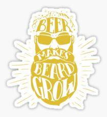 Beer makes beard grow Sticker