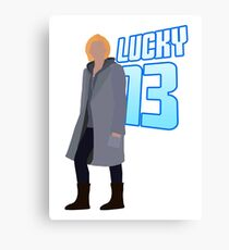 Doctor Who 13th Doctor - Lucky Thirteen - Jodie Whittaker Canvas Print