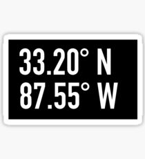 University of Alabama - Bryant Denny Stadium Coordinates Sticker