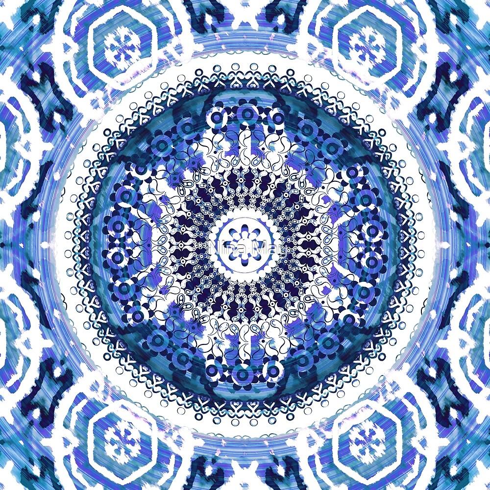 Blue Violet Mist Mandala by Nina May
