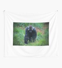 Gorilla On The Prowl Wall Tapestry