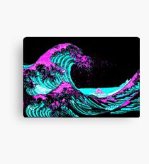 Vapourwaves Japanese Digital Art Canvas Print