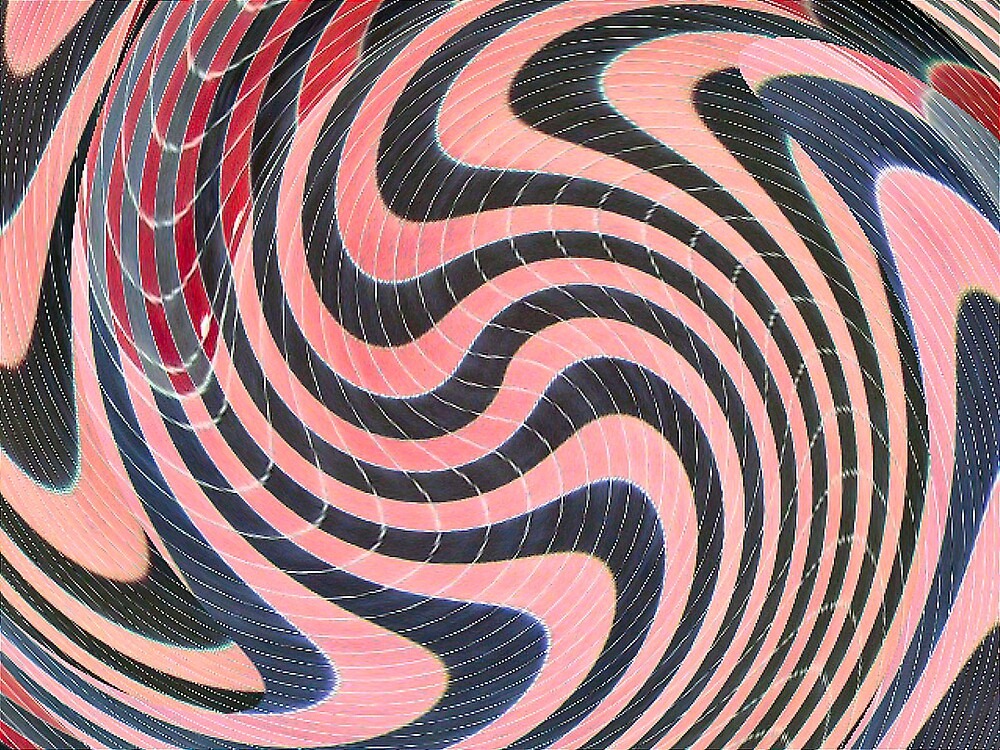 pink and black swirl by donnagrayson