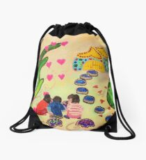 Friends in Fairyland Drawstring Bag