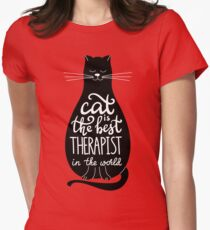 Cat is the best therapist in the world T-Shirt