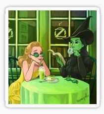 Wicked- Glinda and Elphaba Coffee Sticker