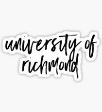 University of Richmond Sticker