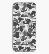 BAPE Camo Greyscale Black and White iPhone Case
