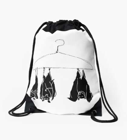 fruitbats in the closet Drawstring Bag