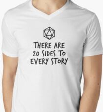 There Are 20 Sides to Every Story - Dungeons and Dragons (Black) Men's V-Neck T-Shirt