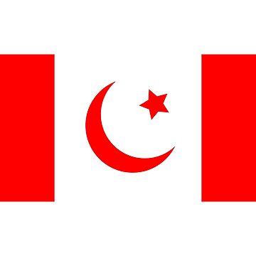 Canada Islamada Flag Kek Shadilay Shitpost by KekShirts