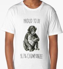 PROUD TO BE 98.7% CHIMPANZEE Long T-Shirt