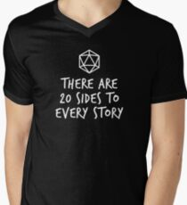 There Are 20 Sides to Every Story - Dungeons and Dragons (White) Men's V-Neck T-Shirt