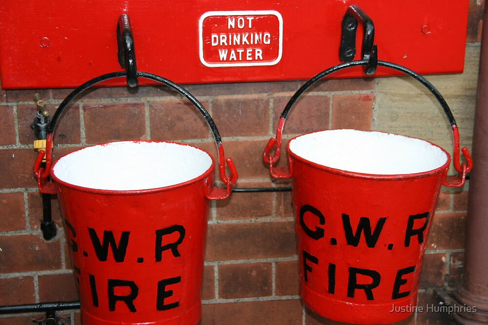 Two Red Buckets by Justine Humphries