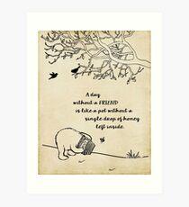Winnie the Pooh - Ein Tag ohne einen Freund Kunstdruck