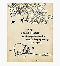 Winnie the Pooh - A Day Without a Friend Photographic Print
