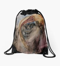 Mummy Looks At Death IN THE FACE Drawstring Bag