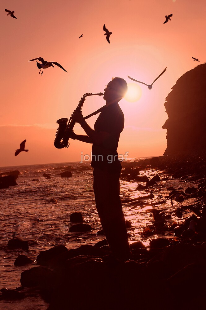 Sax at Sunset by john graf