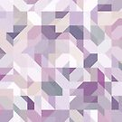 Pastel Purple Geometric on Linen by Kelly Dietrich