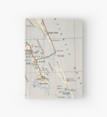 Vintage Map of Roanoke Island & Outer Banks NC Hardcover Journal