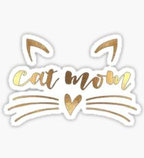Cat mom - Mother of cat Sticker
