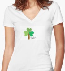 Time for a Tree-T Women's Fitted V-Neck T-Shirt