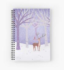 Deer - Squirrel - Winter - Snow - Forest Spiral Notebook