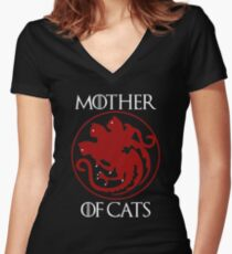 Mother of Cats Women's Fitted V-Neck T-Shirt