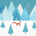 Fox - Winter by Cristina Bianco Design
