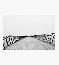 Imperfect Balance at Lorne Pier Photographic Print
