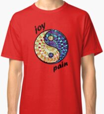 Joy and Pain in Red Classic T-Shirt