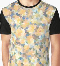 Mango Symphony Yellow Abstract Pattern Graphic T-Shirt