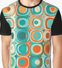 Turquoise and Orange Dots Graphic T-Shirt