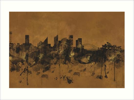 Sydney Harbour Skyline, Australia B&B by Marlene Watson