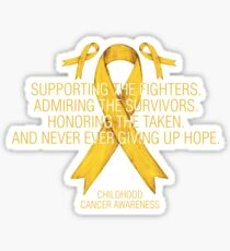 Childhood Cancer Awareness Supporting Yellow Ribbon  Sticker
