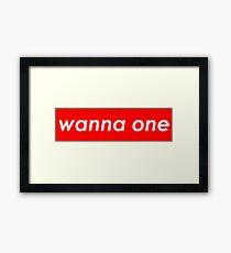 Wanna One - Supreme Framed Print
