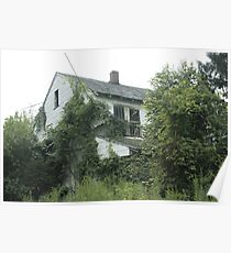 Abandoned Home Ivy Trees Poster