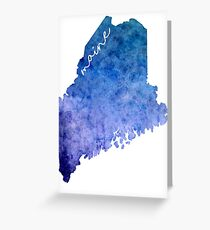 Maine Watercolor Greeting Card