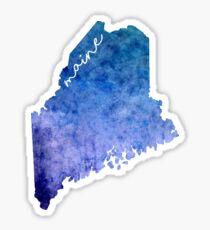 Maine Watercolor Sticker