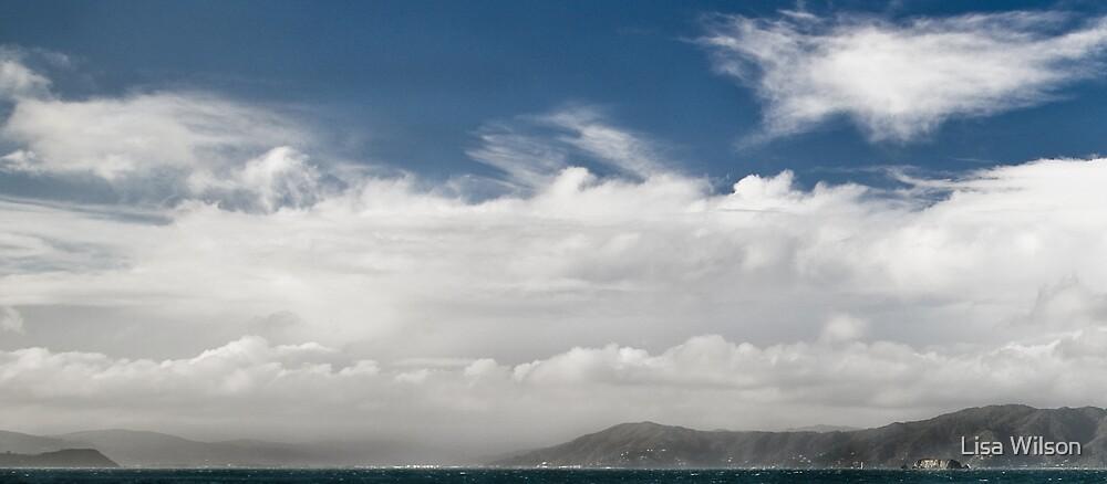 Cloud over Wellington Harbour by Lisa Wilson
