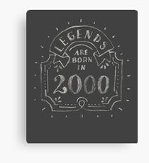 Legends are born in 2000 17th funny birthday gift T-Shirt Canvas Print