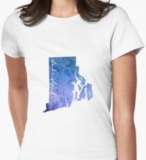 Rhode Island Watercolor Women's Fitted T-Shirt