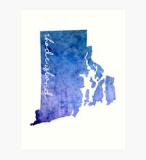 Rhode Island Watercolor Art Print