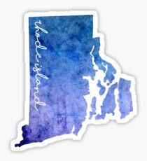 Rhode Island Watercolor Sticker
