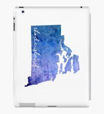 Rhode Island Watercolor iPad Case/Skin
