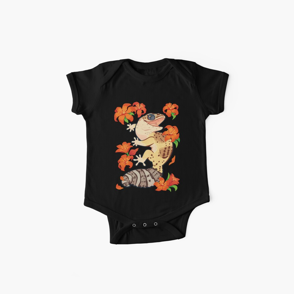 Fire lily gecko Baby One-Pieces
