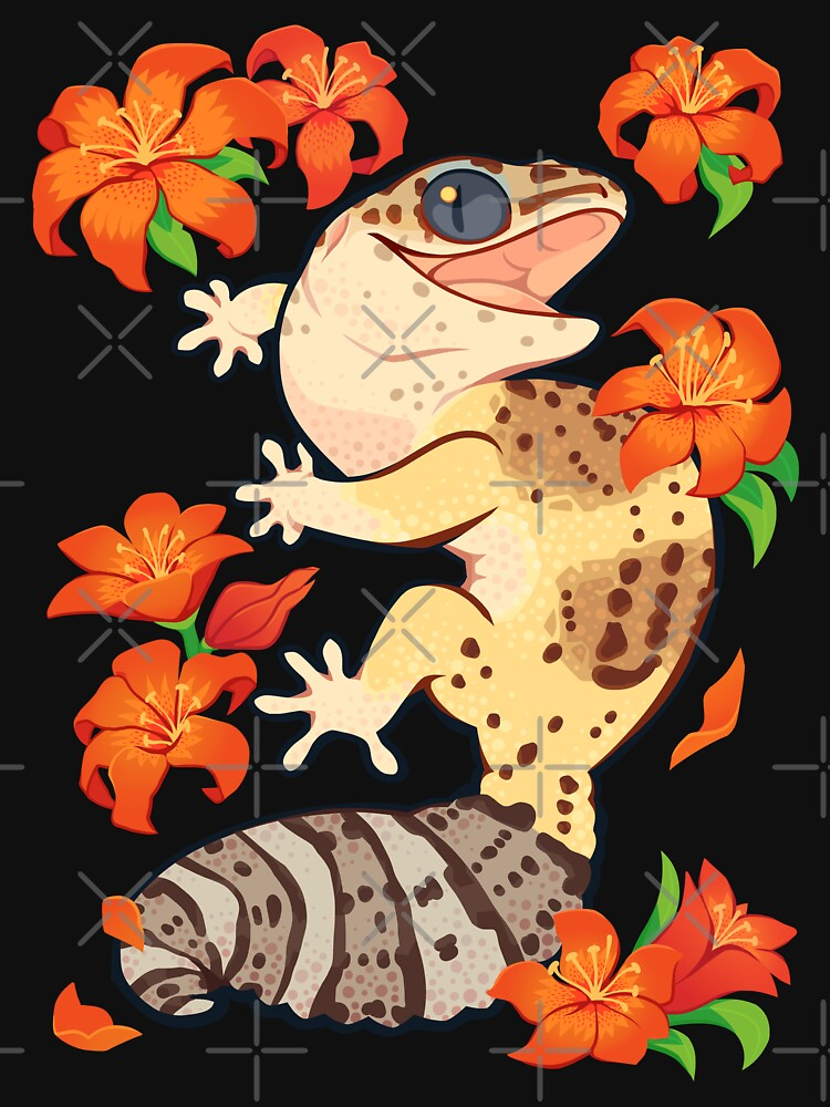 Fire lily gecko by Colordrilos