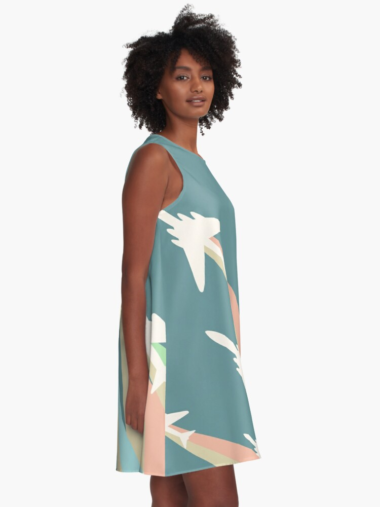 Alternate view of Airplanes Illustration A-Line Dress
