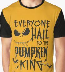 Halloween Everyone Hail To The Pumpkin King Funny T shirt Graphic T-Shirt