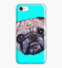 Butch the Pug - Cyan iPhone Case/Skin